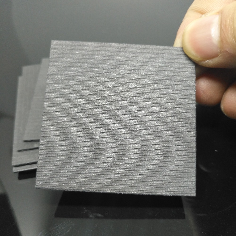 5 Pieces 99.99/% Pure Graphite Electrode Rectangle Plate Sheet 50mm x 40mm x 3mm