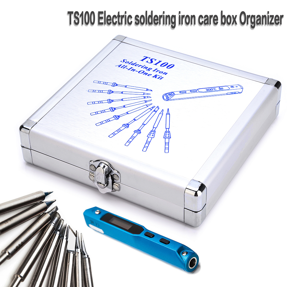 Details about  /Aluminium Package Box Soldering Iron Dedicated Storage Box Ts100 Electric Solder