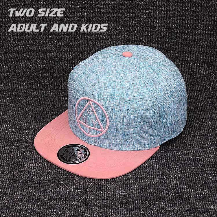 Quality Snapback cap NY round triangle girls boys for hat and hop ... 403990d6d1f