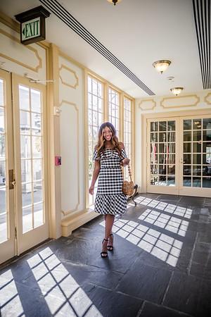 Ann Taylor - Black Stripe Dress