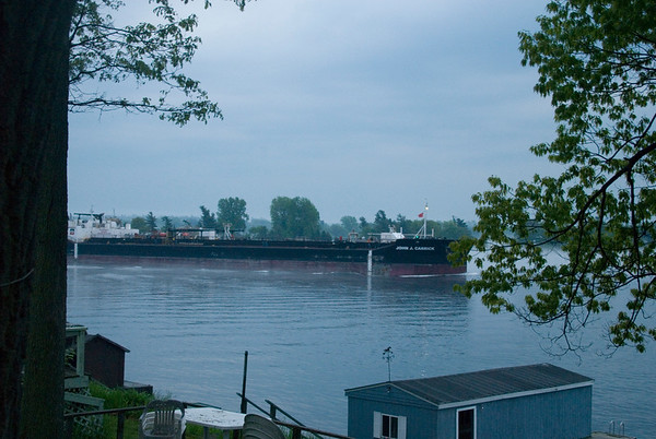 1000 Islands Ships On Foggy River 5-30-11