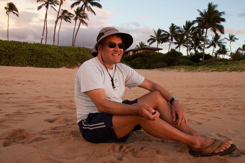 Watching the sunset. Hawaii, US,  Island of Maui, City of Wailea