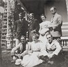 The Nathan Shafer family before 1911. Standing, left to right: Bentley Shafer: Nathan Shafer, Catharine Bentley Shafer, Edwin Shafer, and seated, left to right: George Carleton Shafer, Katherine Shafer, and Francis Shafer.