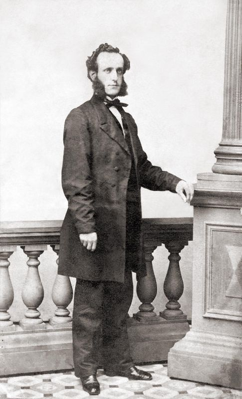 Daniel Durrell Sayre, born 29 Dec. 1831; died 11 Oct. 1900, was a son of Benjamin Sayre, born 8 Nov. 1791 in Southampton, L.I., N.Y.; died 14 July 1858 in Montrose, Pa. and Priscilla Chapman, born 28 May 1793 in Saybrook, Ct.; died 18 May 1875 in Montrose, Pa.<br /> Daniel was a younger brother of Catharine Cochran Sayre (see next photo).
