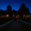 Night shot of Yes Bay Lodge in SE Alaska. Photo taken with an Olympus E-500 DSLR with a 14-45 Zoom Lens.