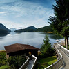 The View from Yes Bay Lodge in SE Alaska. Photo taken with an Olympus E-500 DSLR with a 14-45 Zoom Lens in multiple shots and stitched into a panorama using Stoik Panarama Maker software.