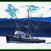 Fishing boat in Auk Bay, Alaska - Near Juneau