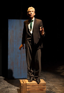 Word for Word brings Edward P. Jones' short story All Aunt Hagar's Children to the stage at Z Space. Running from 11/16/16 to 12/11/16.The preacher (Joel Mullennix) preaches.Photo by Julie Schuchard