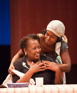Word for Word brings Edward P. Jones' short story All Aunt Hagar's Children to the stage at Z Space. Running from 11/16/16 to 12/11/16.Miss Agatha (Edris Cooper-Anifowoshe) with her daughter-in-law (Kehinde Koyejo).Photo by Julie Schuchard