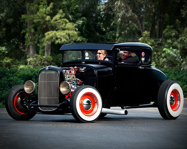 Black Ford Coupe red wheels
