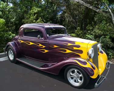 Ford coupe purple flames Tijuana Taxi