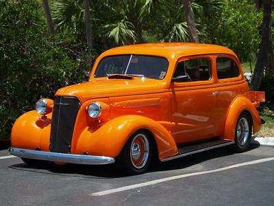 Orange 1937 37 Chev Chevy Chevrolet Sanibel car show
