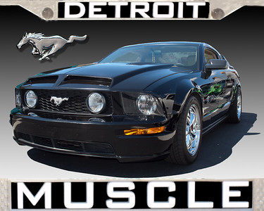 2005 Black Ford Mustang Detroit Muscle
