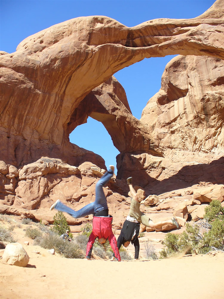 Ana Dalling & Jory Dalling - Double Arch, Arches National Park, Utah