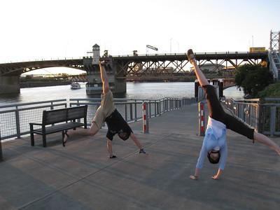 Stacee Calderon and Andres Calderon - Burnside Bridge, Portland, Oregon