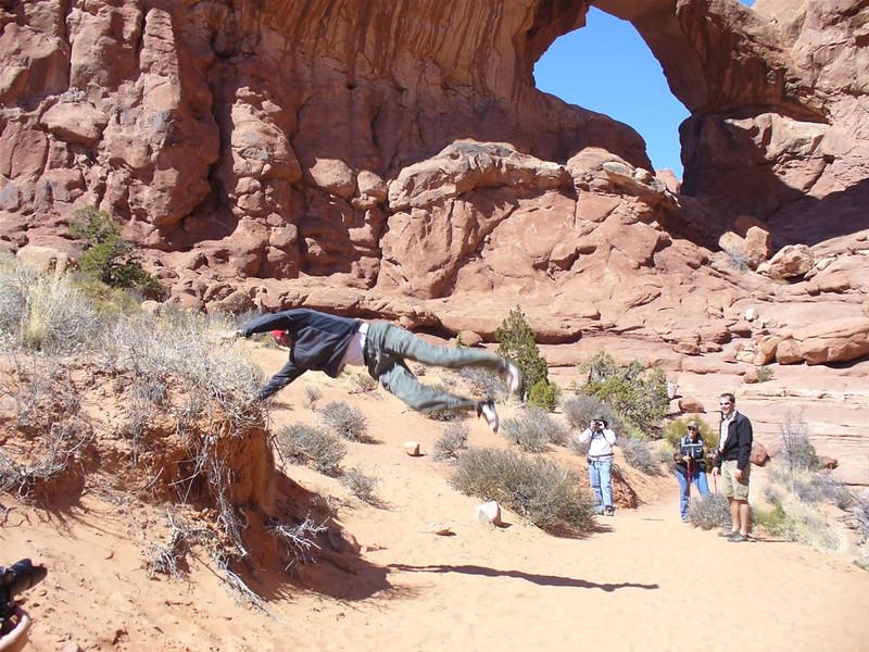 Andres Calderon - Double Arch - Arches National Park - Moab, Utah