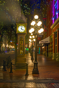 Vancouver Gastown Steam Clock St Paddy's Day