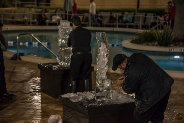 Ice Carving Competition @ Rosen Plaza 12-16-17
