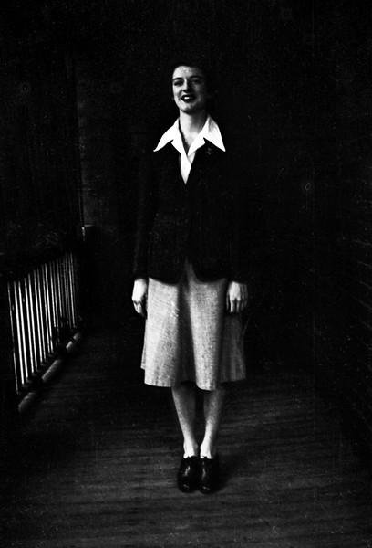 Mystery Portrait-Woman In Dark Verandah