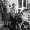 Family On Steps 1961
