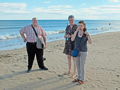 Visting the beach on the Mediterranean near Narbonne, France.