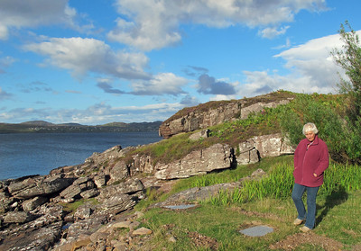 Kirsty looking at Loch Gairloch.