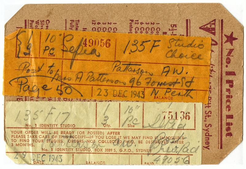 Photo Order 1943