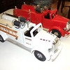 These Lmack fire trucks were originally Bmack models.  These are 100% Smith Miller products even though Smith Miller never made a Lmack Pumper.