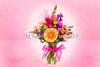 Pink Flower Arrangement Painting Print 8036.02