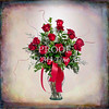 Old Style Red Rose Wall Art 1803.01
