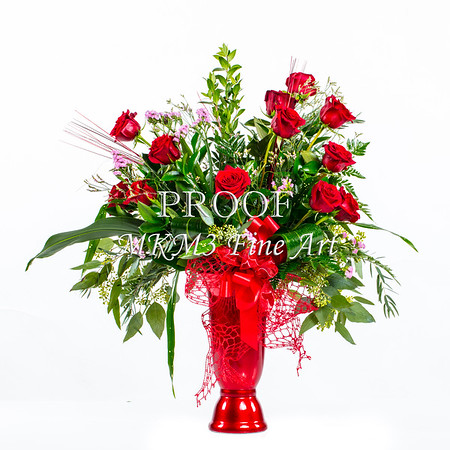 Red Rose Clean Look Wall Art 1803.04