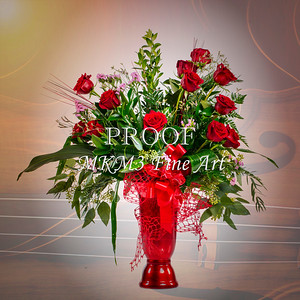 Red Rose Dark Styler Arrangement 1803.06