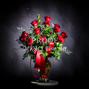FLower Arrangement Red Rose Wall Art 1803.16