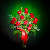 Red Rose On Green Wall Art 1803.11