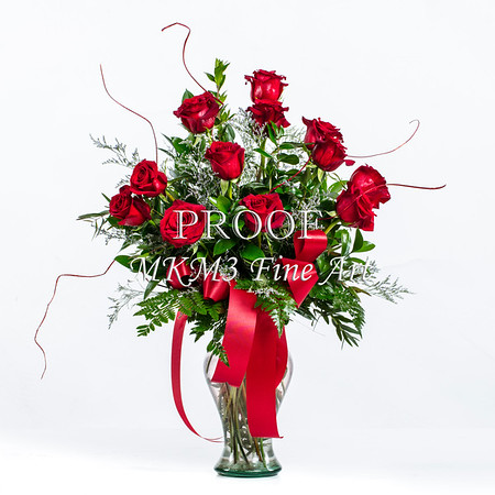 Red Rose Clean Styler Wall Art 1803.02