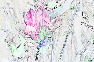 Canvas Print Tulip Tree Drawing 1806.507