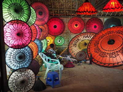 Burmese Umbrellas
