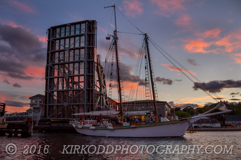 Mystic Drawbridge Sunset Cruse