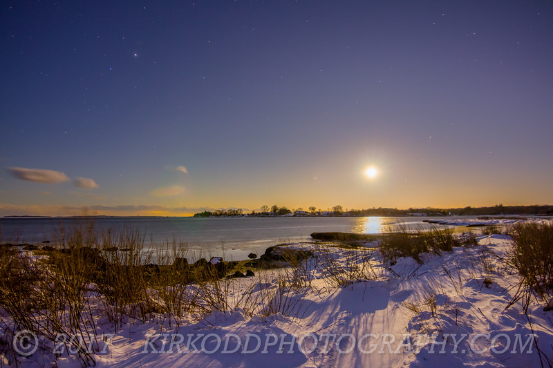 Barn Island Moonrise