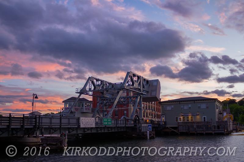 Mystic Bridge HDR Sunset