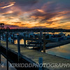 Sunset over Marina on Mystic River