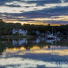 Mystic River Sunset Reflection