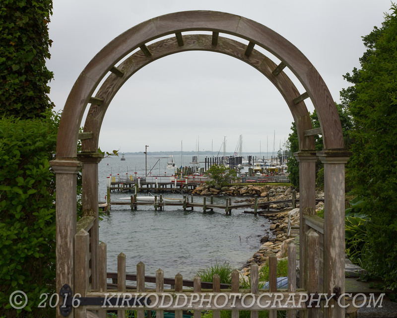 Gate to Noank Harbor