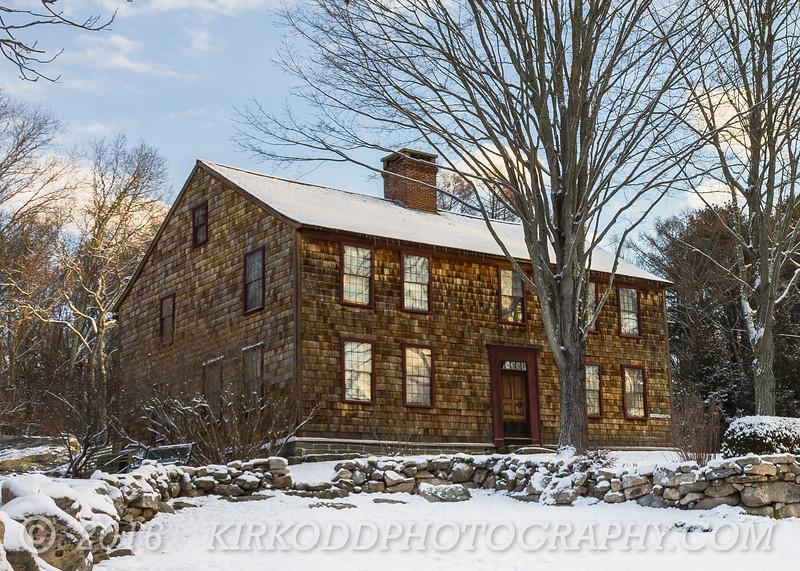 Denison Homestead in Winter