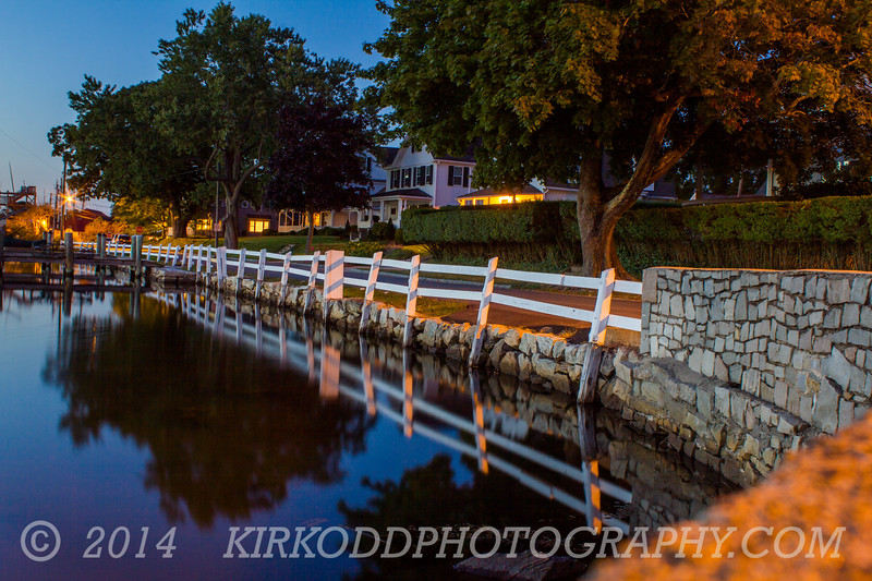 Mystic River Wall Reflection