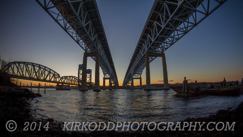 Gold Star Bridge Simple Sunset