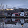 Mystic Seaport Lighthouse Reflection