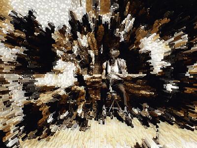 Jazz Man Blows Them Away IV, Washington Square Park, Greenwich Village, New York City, 2007
