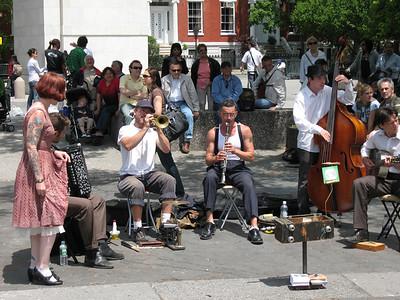 Jazz Band, Washington Square Park, Greenwich Village, New York City, 2007