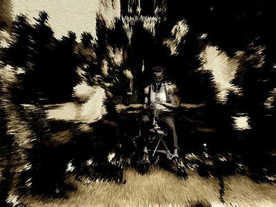 Jazz Man Blows Them Away, Washington Square Park, Greenwich Village, New York City, 2007